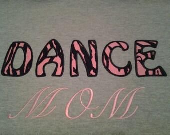 Dance Mom Sweatshirt - Hooded Mom Sweatshirt - Custom Embroidery Dance mom - Gift for Mom - Hoodie Sweatshirt - Design Your Own Sweatshirt