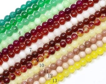 Lovely Bead Smooth 8mm Round Jade Strand