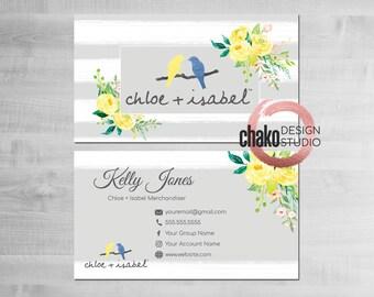 Chloe and isabel etsy chloe and isabel business cards chloe and isabel business card watercolor floral colourmoves