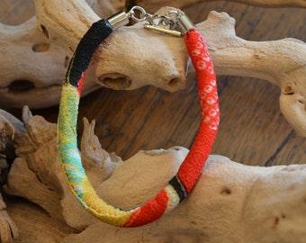 chirimen cord bracelet red