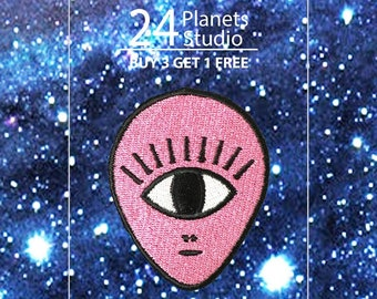 Alien One Eye Iron on Patch by 24PlanetsStudio