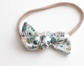 One Size Fits All- Top Knot Elastic Headband/Bow Collection- Bouquets on nylon or metal clip