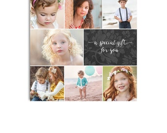 Photography Gift Certificate - 5x5 Two Sided Card - Photoshop Template - 1193