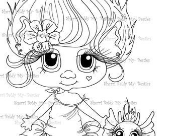 INSTANT DOWNLOAD Digital Digi Stamps Big Eye Big Head Dolls NEW Bestie Twinkle Toes Troll Scan0058 My Besties  By Sherri Baldy