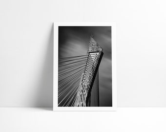 The Térénez bridge, Fine Art print signed and numbered