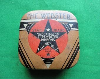 The Webster Star Brand Typewriter Tin