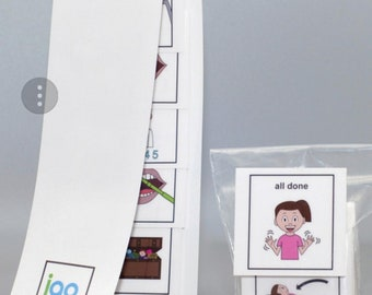 I Go To The Dentist Cleaning girl PECS picture strip Autism book sold seperately