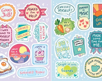 Self Care Sticker set