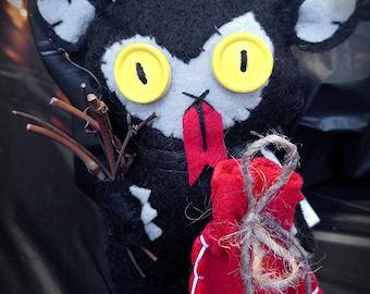 Krampus Plush   Handmade Stuffed Plush   MADE TO ORDER   Christmas Devil   Anti-Santa   Goth   Made to Order   Gruss Vom Krampus