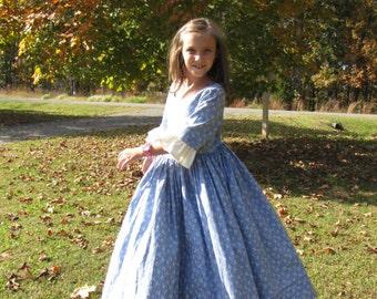 Custom Girls Colonial Dress sizes 10, 12 & 14