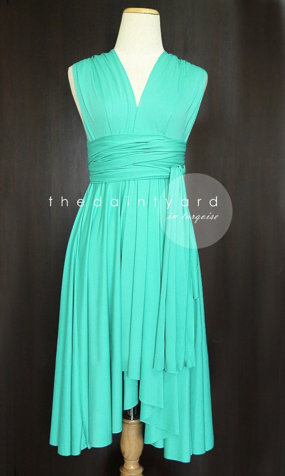 Turquoise bridesmaid dress convertible dress infinity dress like this item junglespirit Gallery