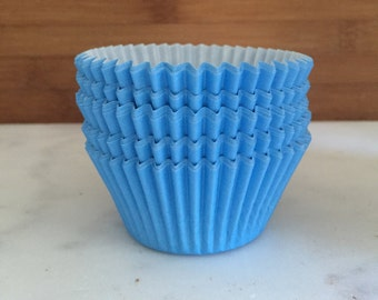 Solid Light Blue BakeBright Cupcake Liners, Taller Sized, Baking Cups (30)