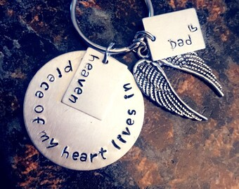 Personalized Heaven Keychain