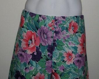 Deadstock Vintage 1980's Surf Board Shorts TRIM Floral Pattern NWT NOS size Large 32/34