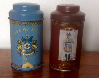 Vintage Tea Tins.Small Decorative Tins. 1950's/60's.