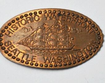 Historic Waterfront Seattle Washington Elongated Penny 1c