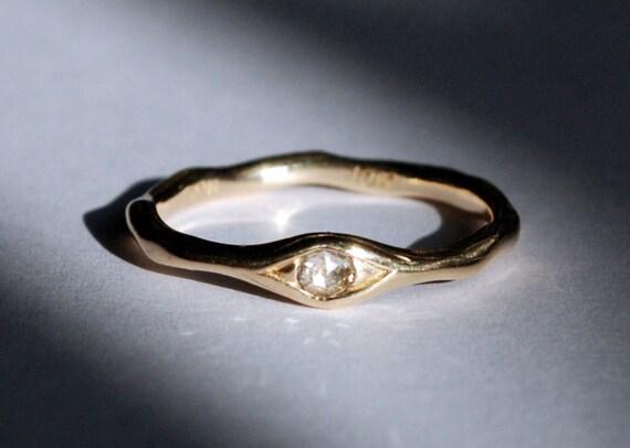 10k Gold and White Chakri Diamond Eye Ring-US SIZE 7.5