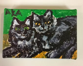 New! 4x6 giclee prints from original artwork of two adorable kittens