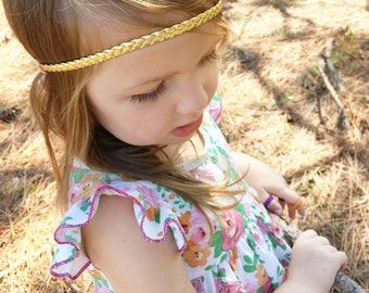 Braided Baby Headband, Gold Baby Headband, Toddler Headband, Newborn Headband, Braided Headband, Gold Braided Headband, Baby Headband, Boho