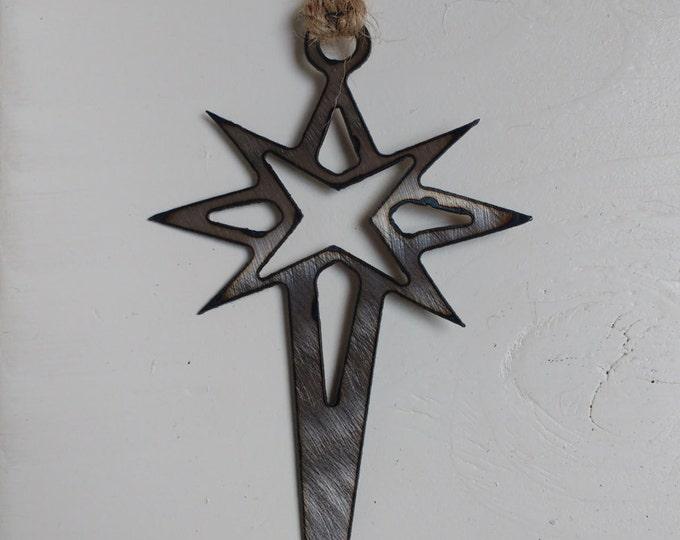 Steel Star of David Ornament