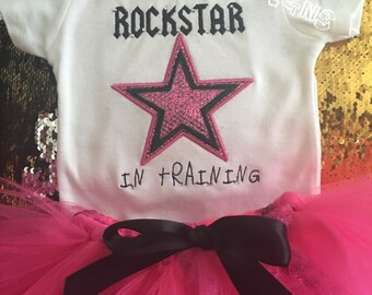 ROCKSTAR in training bodysuit or t shirt for boy or girl-Rockstar in training shirt or bodysuit
