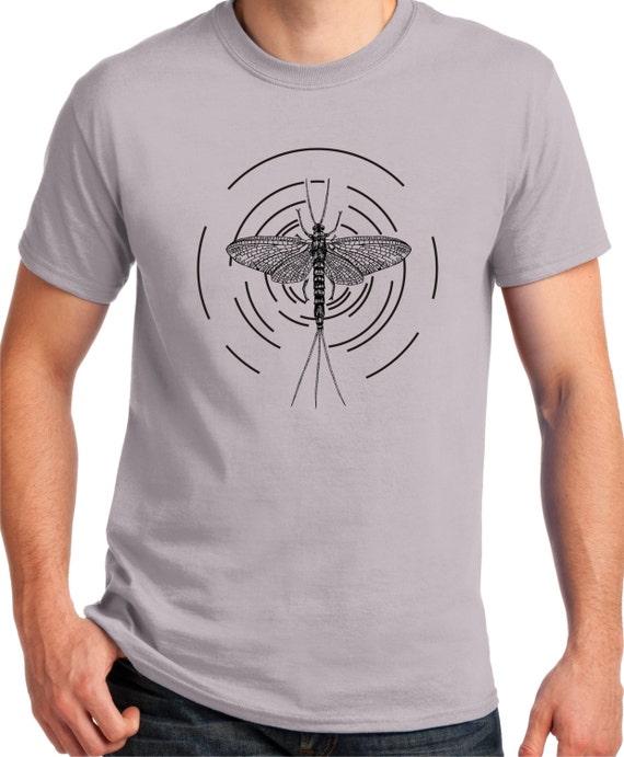 Fly fishing shirt mayfly go fly fishing fishing shirt fly for Two fish apparel
