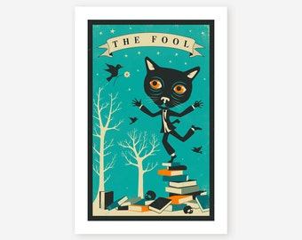 TAROT CARD CAT (Giclée Fine Art Print/Photo Print/Poster Print) The Fool