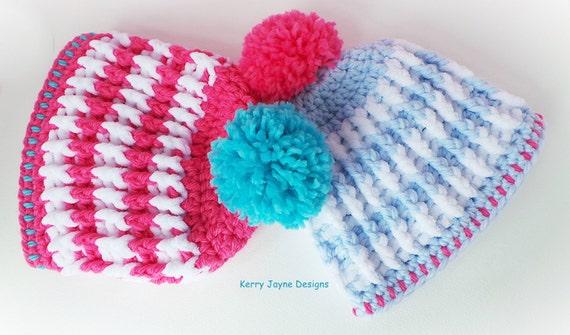 Nordic Ridge Crochet Hat Pattern Child Sizes Bobble Hat