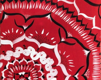 red and black 18x24 mandala