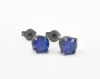 simulated yellow mens listing blue stud il earrings citrine sapphire gold earringssimulated studs