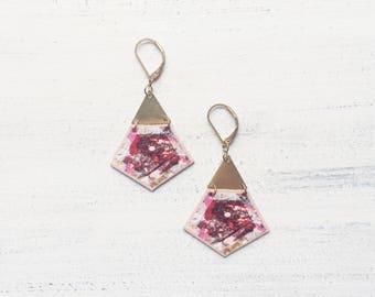 SIBU TIGA geometric lightweight dangle earrings
