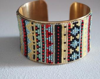 Aztec type Cuff Bracelet