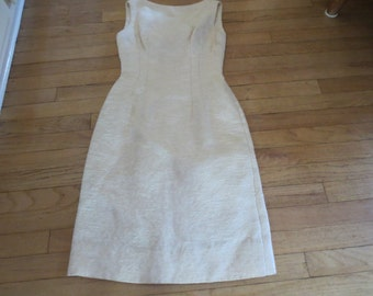 Vintage Cream and Gold  Wiggle Dress