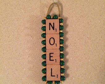Handmade Scrabble Tile Christmas Ornament!!!