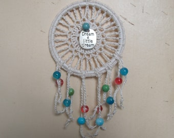 Dream A Little Dream/Small Dream Catcher/Crochet Dream Catcher