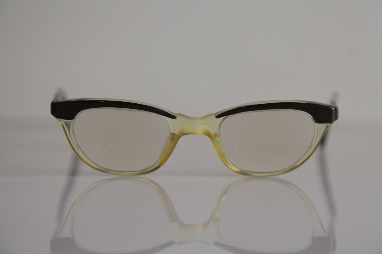 Jahrgang MARWITZ Brillen Olivgrün Rahmen Crystal Crystal