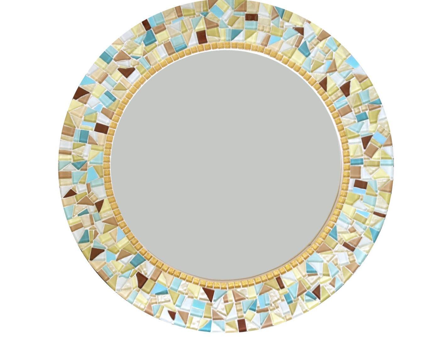 Wall Mirror // Round Mosaic Mirror // Decorative Mirror //