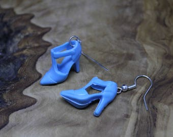 Barbie Doll Shoes, pair of drop earrings, Unique, Retro, 90's, KAWAII, Super Cute!