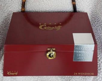 Cigar Box Purse Graycliff (red/wood)