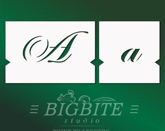 Letter STENCILS: Stencil Font – lowercase & UPPERCASE Vintage Lettering alphabet/pochoirs de meubles Decorative Victorian Font Typography