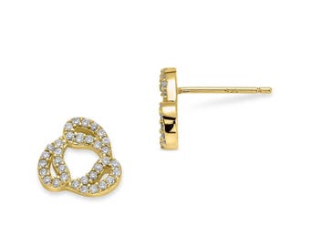 Drops earrings - yellow gold