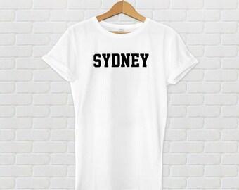 Sydney Varsity Style T-Shirt - White