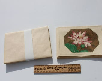 Vintage Hallmark Blank Flower Note Cards with envelopes, Boxed Pink Flower Cards