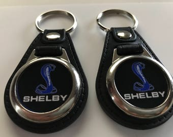 Ford Shelby Keychain fobs 2 pack set blue and black