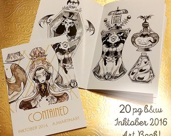 Contained - Inktober 2016 Art Book