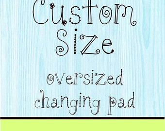 Minky Changing Pad Cover Custom Size Thick Pad