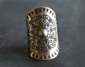 Nong Sterling Silver Ring Hill Tribe Bohemian Jewelry