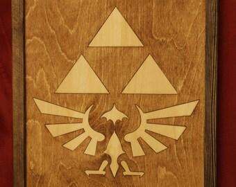 Zelda Tri Force Wooden Inlay Wall Art