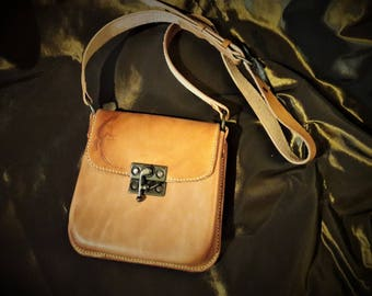 "Leather bag natural pattern ""salamander"""