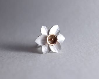 Daffodil Ring | Sterling Flower Ring | Silver Flower | Botanical Ring | Nature Inspired Ring | Gift for her | Bridal Ring | Floral Ring